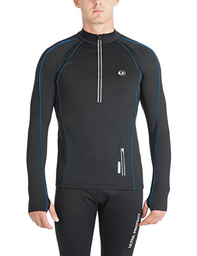 Ultrasport Herren Jimi windabweisendes Angerautes Fleece Laufshirt mit Reflektoren und Quick Dry Funktion Test
