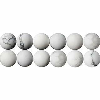 Natürliche Weißer Howlith Mattiert 10mm Halbedelsteine Perlen für Armbänder Halsketten Auffädeln 38cm Strang Approx 35 Stück