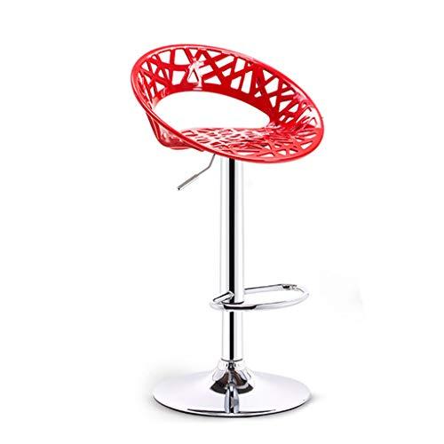 Chaises de réception Chaise Haute Adulte Tabouret Haut de Table Chaise Longue Rouge Belle Chaise Chaise de Caisse Tabouret de Bar (Color : Red, Size : 51cm*38.5cm*99cm)