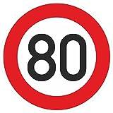 Geburtstagschild 80 Verkehrszeichen Verkehrsschild Straßenschild Geburtstagsschild Schild Geburtstag PVC 40 cm