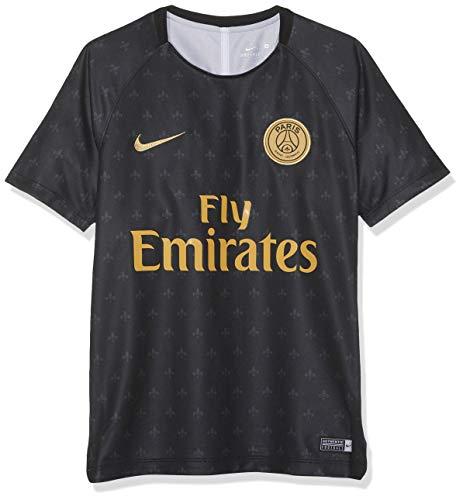 Nike paris saint-germain dry squad top short-sleeve gx 2, t-shirt unisex bambini, black/truly gold, m
