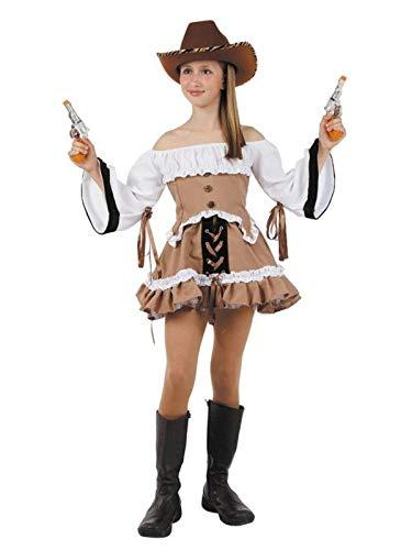DISBACANAL Disfraz Vaquera del lejano Oeste niña - Único, 8 años