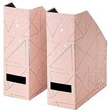 Ikea Tjena revistero archivador rosa negro 2 ud