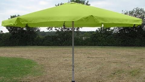 Sonnenschirm Ø 4m mit Kurbel ,Krempe und Stahlfuß lime-grün