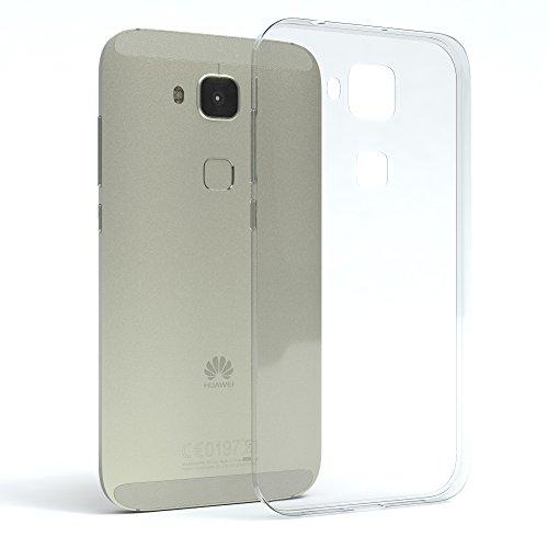 Huawei G8 Hülle, EAZY CASE Ultra Slim TPU Handyhülle - dünne transparente Schutzhülle aus Silikon Transparent