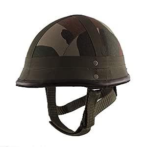 Autofy Camouflage German Helmet with Detachable Strap (Green,Medium)