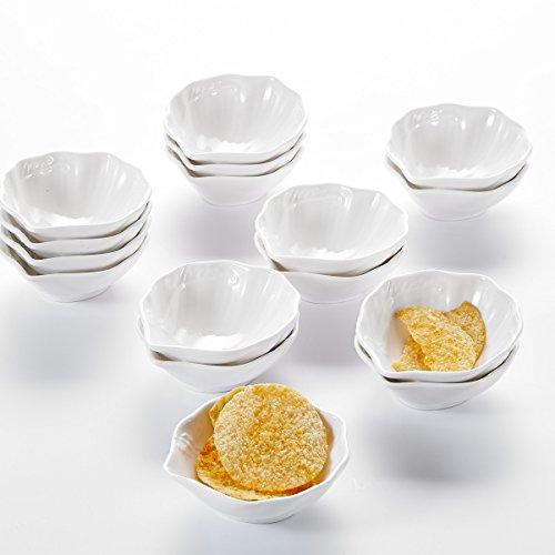 MALACASA, Serie Ramekin.Dish, 16er Set SUPER Mini 3,5