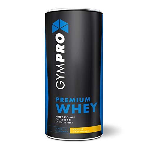 GymPro - Premium Whey Protein Pulver (Vanille, 1000g), mit 88{6e4e75b892c5ba942b1bfc4ac1bf3294b21066b1d534a9bf9048664bcf0c2001} reinem Eiweiss. Hydrolisiertes Whey Isolat & Whey Konzentrat mit Aminosäuren (BCAA) laktosefrei. Hergestellt in Deutschland.