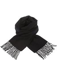 Edinburgh 100% Lambswool Scottish Tartan Multicolour Scarf Black (One Size)