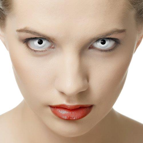 Farbige Effekt-Kontaktlinsen weiß