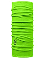 original buff light merino lana buff® solid lime - lana buff para unisex, color multicolor,  adolescente