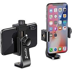 zeadio Supporto per treppiedi Smartphone, Adattatore Porta Telefono per Selfie e monopiede, Adatto per iPhone, Samsung e Tutti i telefoni