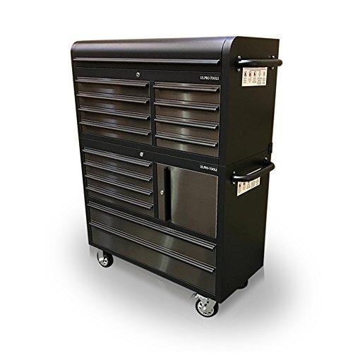 US PRO Edelstahl mit Schwarz Tool Brust Cabinet Tool Box 104,1cm (Brust Snap-tool)