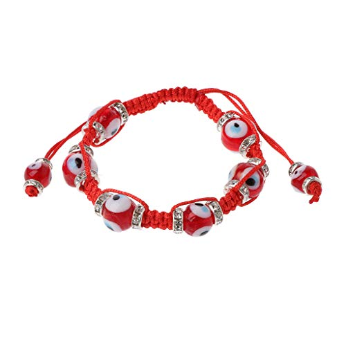 Imagen de misha classic evil eye bracelet trenzado rojo macrame kabbalah jewelry for women pulseras únicas de moda 4#  alternativa