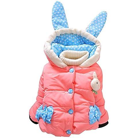 Neonate Bambini inverno caldo del coniglio del cappotto con cappuccio - Partito Con Cappuccio