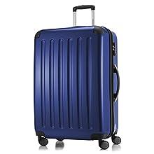 HAUPTSTADTKOFFER - Alex - Bagage Rigide extensible, Valise Grande Taille, Trolley avec 4 Roues multidirectionnelles, TSA, 75 cm, 119 litres, Bleu foncé