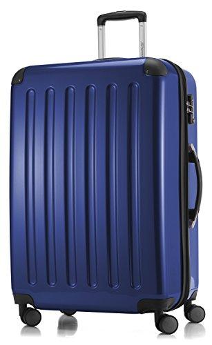 HAUPTSTADTKOFFER - Valigia Rigida Alex, 4 Doppie ruote, TSA, Taglia 75 cm, 119 Litri, Colore  Blu scuro