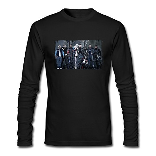 Temporal(TM) Men's Suicide Squad 2016 Task Force X Movie Characters Long Sleeve T-shirt Size XL Black