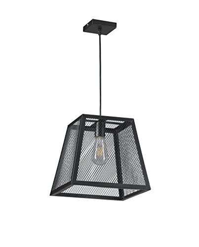 Onli oscar lampada a sospensione con lampadine e27, 22 w, nero, 30 x 30 x 110 cm