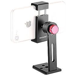 Neewer Metall Handy Halter Klemme Desktop Stativ Mount Adapter von 5,6-8,9 cm Breite