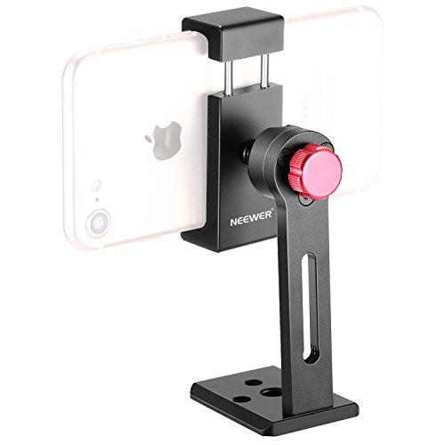 Neewer Metall Handy Halter Klemme Desktop Stativ Mount Adapter von 5,6-8,9 cm Breite (Handy-stativ-halter)