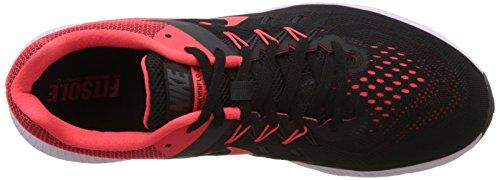 Nike Zoom Winflo 2, Scarpe da Corsa Uomo, Talla Nero / Arancione / Grigio / Bianco (Blk/Brght Crmsn-Anthrct-White)