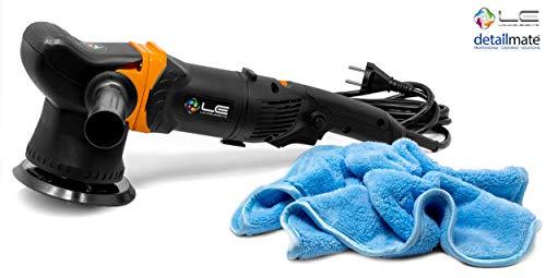 *detailmate Auto Politur Set: Liquid Elements T3000 V2 Exzenter Poliermaschine, 900 Watt + Poliertuch 40x40cm, 450 GSM*
