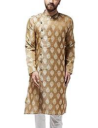 Sojanya (Since 1958, Men's Jacquard Silk ONLY Long Kurta