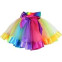 Moresave Bambina Arcobaleno Tutu Pet Pannello Esterno del Corpo del Partito  Palestra Balletto Body Usura Vestito 724123e9f84