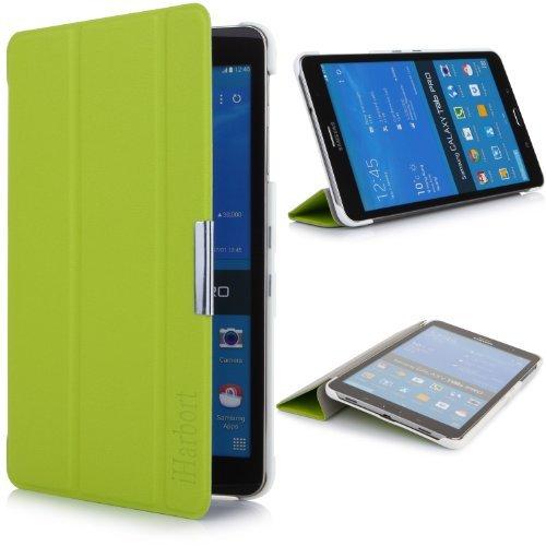 iHarbort® Samsung Galaxy Tab Pro 8.4 custodia in pelle, ultra sottile di peso leggero Case Cover custodia in pelle per Samsung Galaxy Tab Pro 8.4 pollice T320 T325 Holder, con il sonno / sveglia la funzione, verde