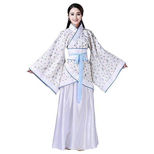 Uralt Damen Hanfu - Traditionell Kostüm Elegant Retro Tang Suit Bühne Performance Kleid ()