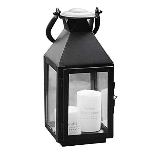 Uonlytech kerzenhalter Eisen Retro hängen licht Laterne kerzenhalter dekorative Lampe für zuhause im freien Halloween Restaurant bar (schwarz) -