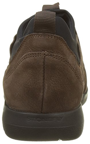 Stonefly Space Up 1 Nubuk, Chaussons Homme Marron (Oak Brown 1a09)