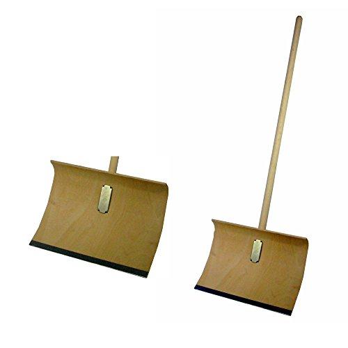 Holz-Schneeschieber 500 x 350 mm, mit Stiel