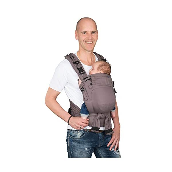 Hoppediz Nabaca Basic-Set, Classic, Grey Hoppediz Modular comfort carrier consisting of two shoulder straps, one hip belt and two carrier panels in sizes s and m The wide, padded shoulder straps and the hip belt are flexibly adjustable in different sizes and protect your neck and back. A detailed illustrated instruction manual (available in several languages) is enclosed. 3