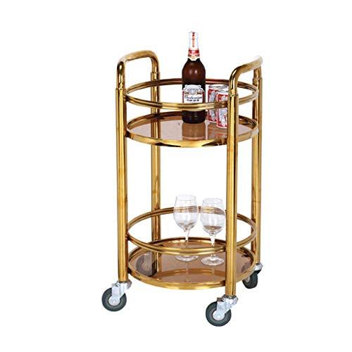 B-K Vier Räder Portable Tool Storage Cart Tool Cart - Tee Wein Cart Dessert Car Hotel Mobile Kleinen Cart Service Cart Kinderwagen Utility Cart, b, 40x40x78cm -
