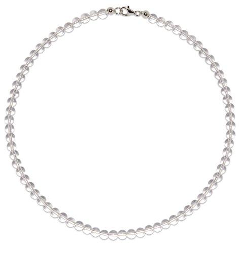 Bergkristall Schmuck (Halskette) Bergkristall Kette Kugeln Verschluss 925er Sterling-Silber Modellnummer 3057