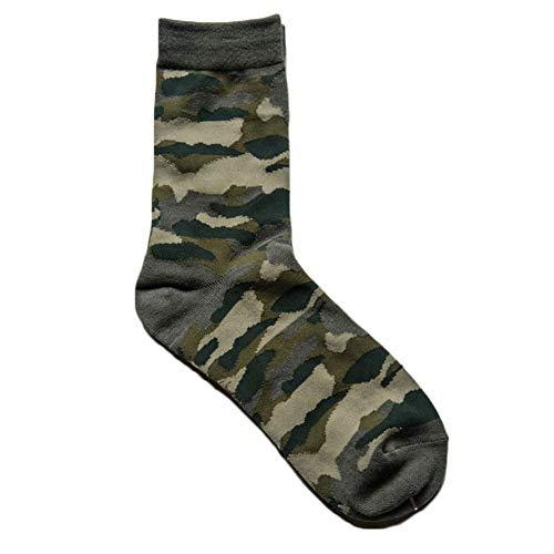 Golden Lank Winter Socks Camouflage Socken Baumwolle Retro Männer nationalen Harajuku Stil Socken Herbst und Winter (Army Grün)