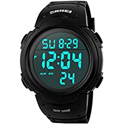 Military Watches Men's Sport Watch Digital Quartz Fashion Wrist Watch Big Face Simple Operation 50 M Water Proof LED Back Light Kinetic Watch On Sale