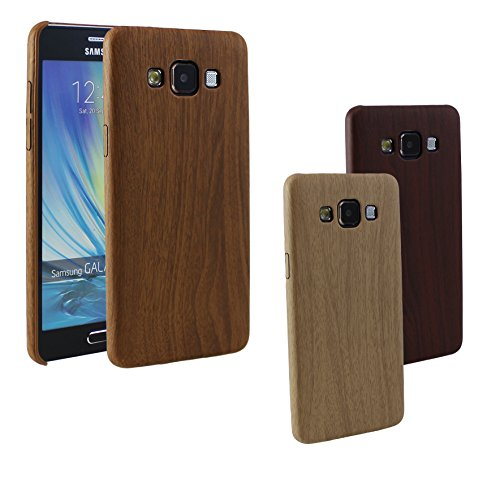 iPhone 55S 66S Plus + Housse en silicone pour Samsung Galaxy S6Edge A3A5bois aspect Wood style Motif en clair foncé moyen moyen