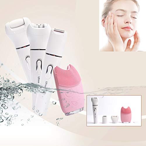 YXF Reinigung Utensilien 5 in 1 Beauty Tool Kit Reinigungsinstrument Elektrische Rupfvorrichtung Rasiermesser Scrub Dead Skin-Maschine, (EU Pulg)