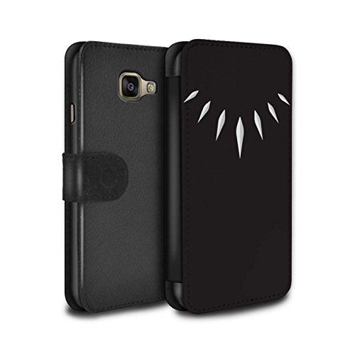 Stuff4® PU-Leder Hülle/Case/Tasche/Cover für Samsung Galaxy A3 (2016) / T'Challa Klauenhalskette Muster/Schwarzer Panther Inspiriert Kollektion -