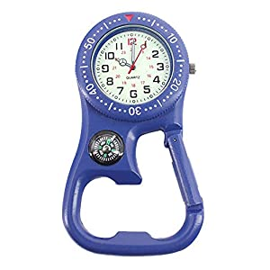 czos88 Carabiner Watch 3in1 Wandern Outdoor Thermometer Zubehör Nordpfeil Schlüsselanhänger Mini Camping Flaschenöffner Design Multifunktionale Karabinerhaken Digital Durable Survival Tool
