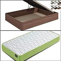 Mueble Canape con Base Tapizada + Colchon Visco 90x190 cms, Subida Domicilio ref-30