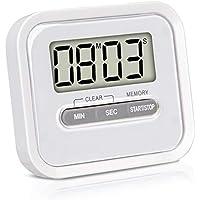 KLAGENA Temporizador con cronómetro, Incluye imán y Soporte de fijación - Reloj de Cocina Digital/Timer/Temporizador electrónico/pomodoro