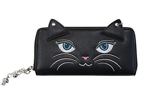 Banned Apparel Kitty Schnurrhaare Cat Ears Vintage Rockabilly Geldbörse Schwarz