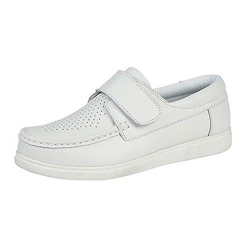 Dek Unisex Klettverschluss Bowling Schuhe (6 UK/39,5 EU) (Weiß) (Bowling-schuhe)