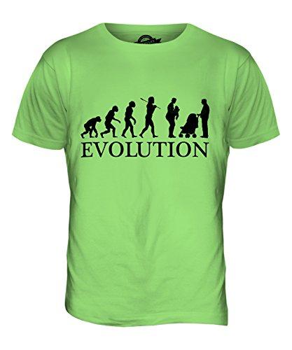 CandyMix Genitori Evoluzione Umana T-Shirt da Uomo Maglietta Verde Lime
