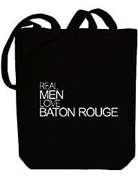 Idakoos Real men love Baton Rouge - Ciudades Usa - Bolsa de Lona