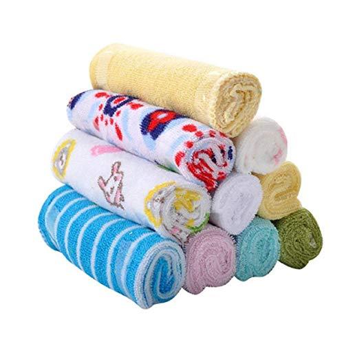 8 PCS Cute Soft Baby Cotton Asciugamani da bagno Infantile Viso Washcloth Fazzoletti quadrati